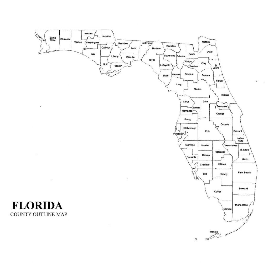 Florida County Maps And Travel Information | Download Free Florida - Florida County Map Printable