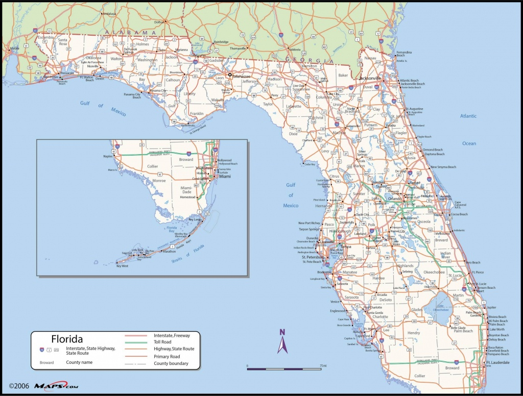 Florida County Wall Map - Map Of S Florida