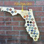 Florida Craft Beer Cap Map Beer Bottle Map Beer Caps Holder | Etsy   Florida Beer Cap Map