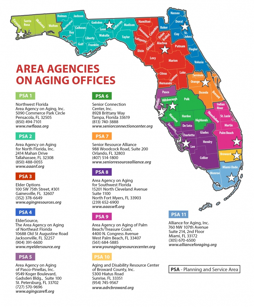 Florida Department Of Elder Affairs - Aging Resource Centers - Del Ray Florida Map
