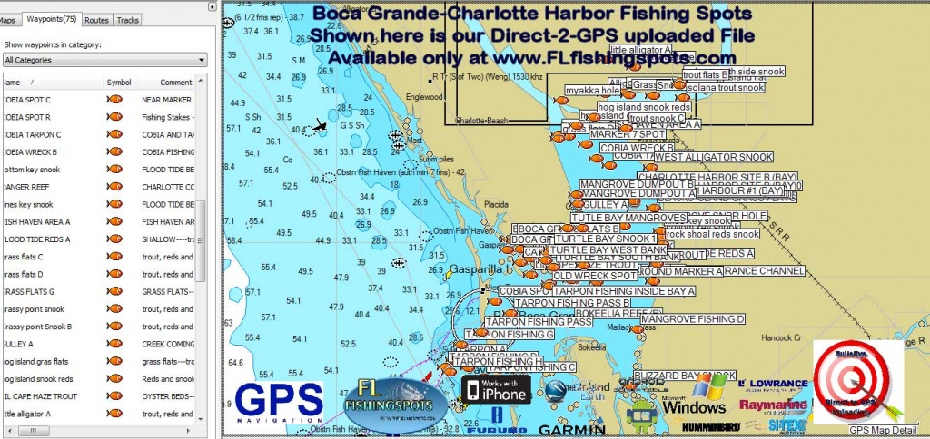 Florida Fishing Maps With Gps Coordinates | Florida Fishing Maps For Gps - Hot Spot Maps Florida