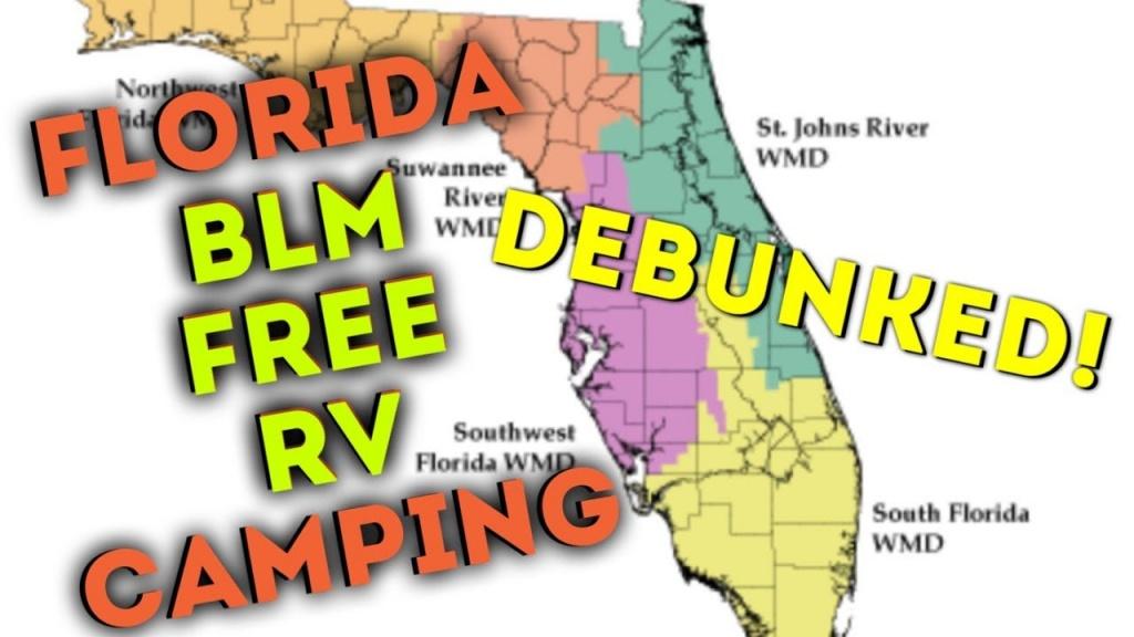Florida Free Rv Blm Camping Debunked ! - Youtube - Blm Land Florida Map
