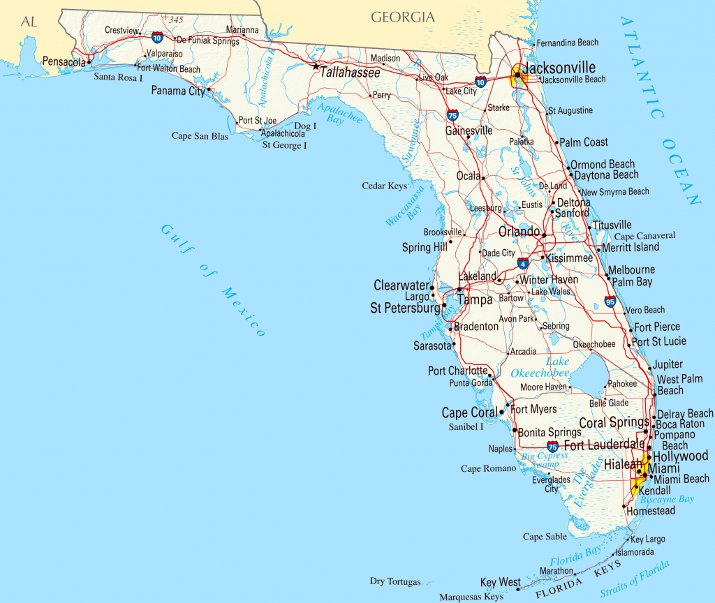 Florida Gulf Coast Beaches Map | M88M88 - Map Of Florida Beaches On The Gulf Side