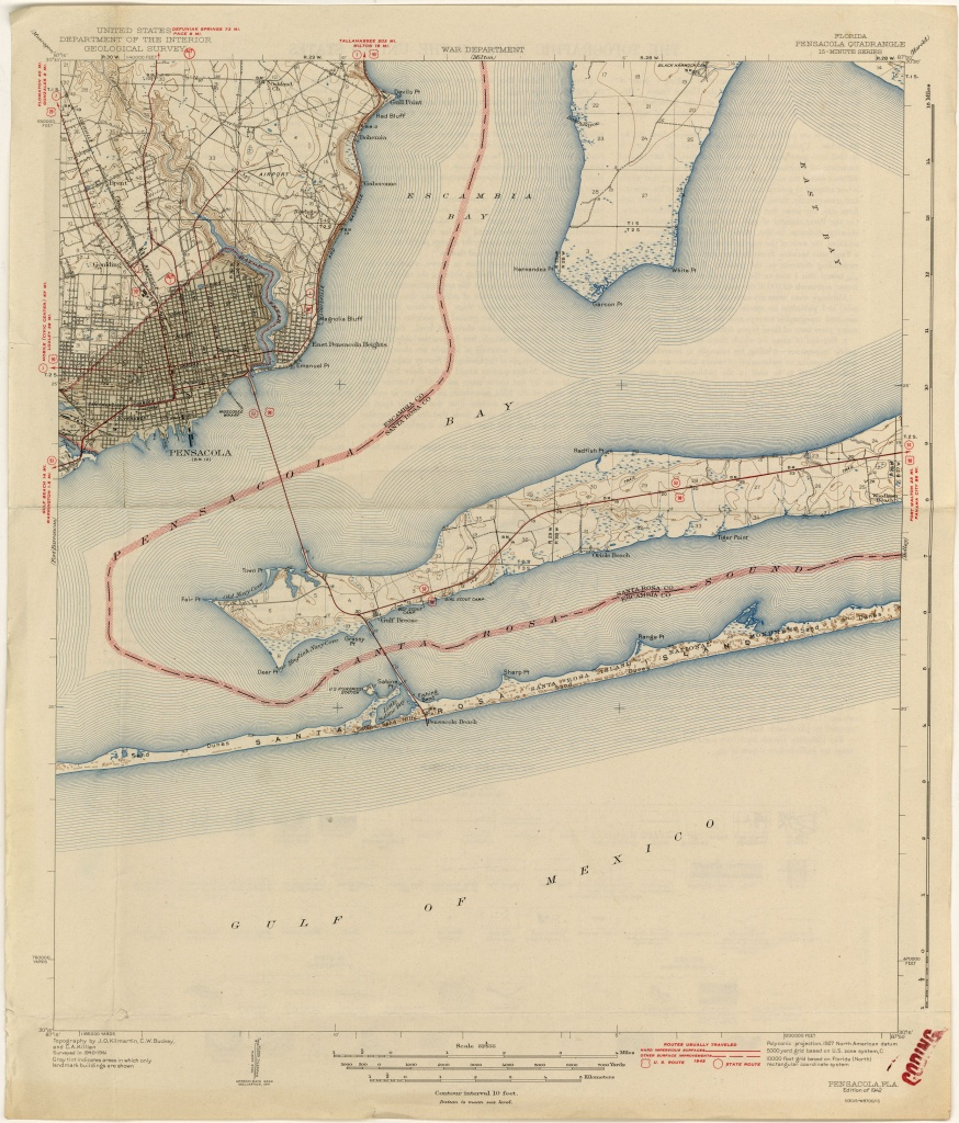 Florida Historical Topographic Maps - Perry-Castañeda Map Collection - Old Maps Of Pensacola Florida