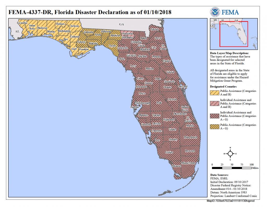 Florida Hurricane Irma (Dr-4337) | Fema.gov - Fema Flood Maps Marion County Florida