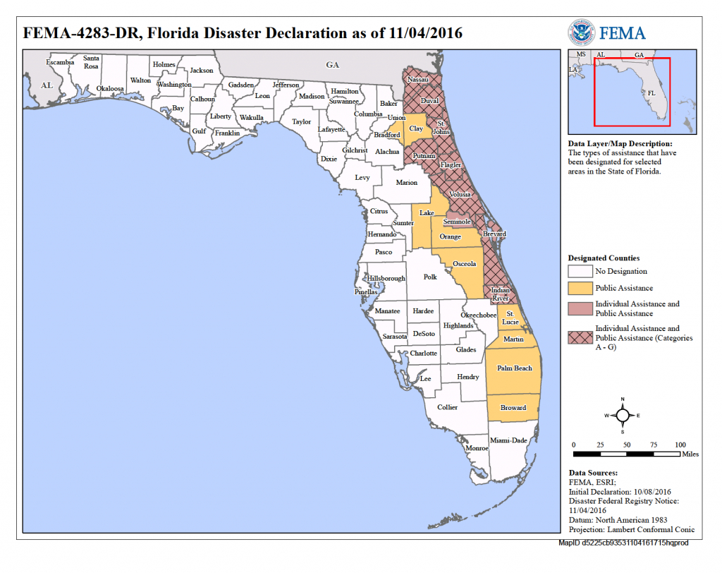 Florida Hurricane Matthew (Dr-4283)   Fema.gov - Fema Maps Florida