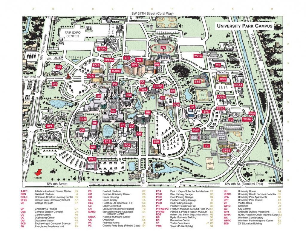 Florida International University Campus Map - Florida International - Florida State University Map