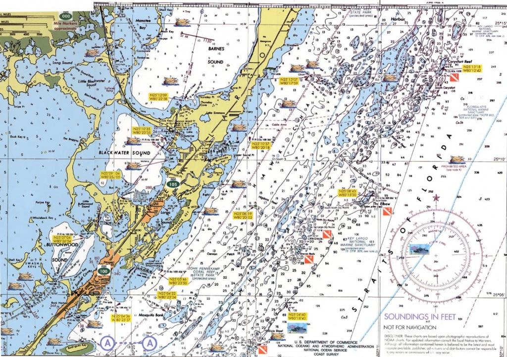 Florida Keys Dive Charts - Florida Keys Marine Map