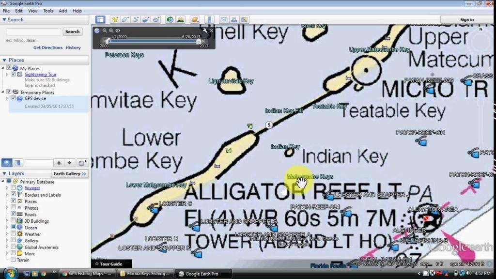 Florida Keys Fishing Map And Fishing Spots - Florida Keys Spearfishing Map