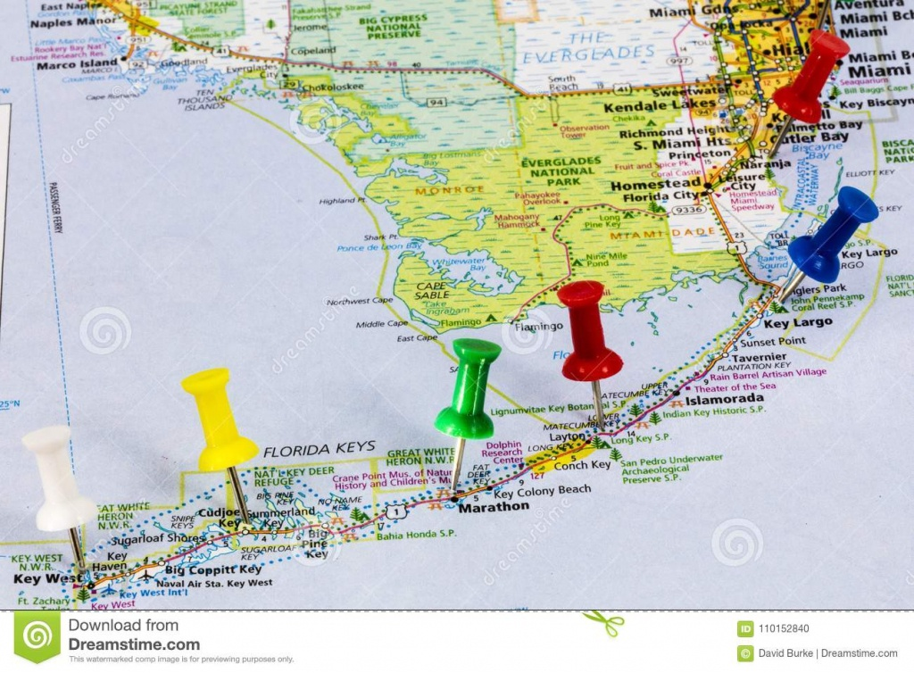 Florida Keys Miami Map Editorial Image. Image Of Miami - 110152840 - Florida Vacation Map