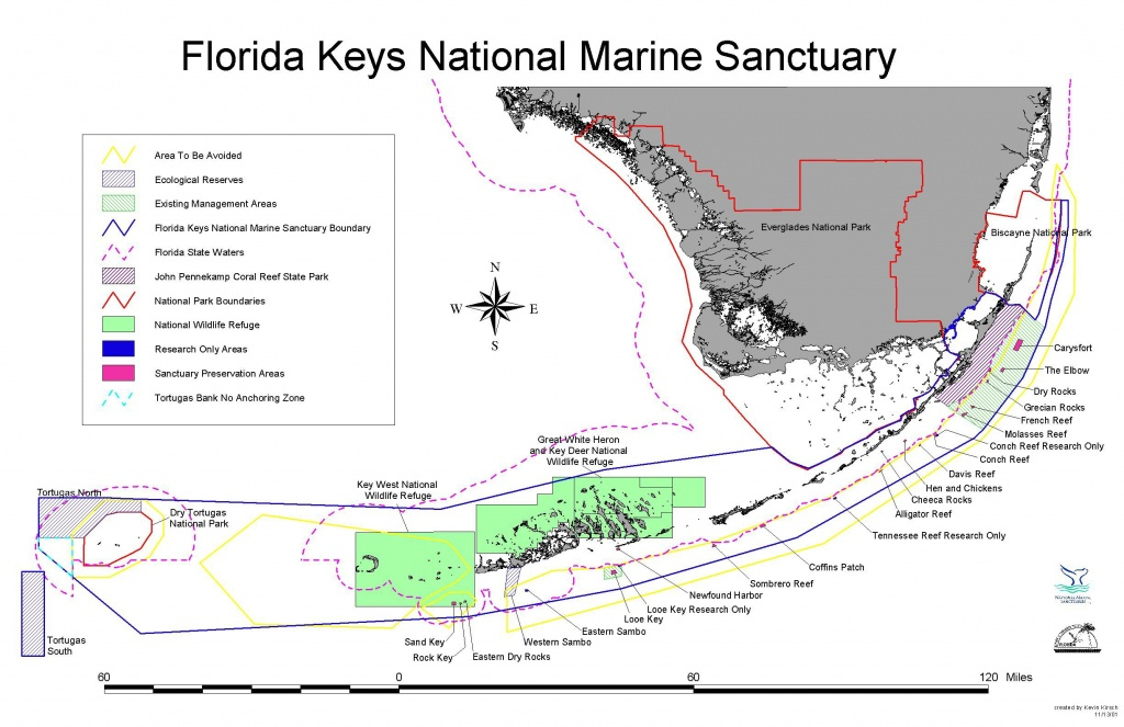 Florida Keys National Marine Sanctuary - Wikipedia - Upper Florida Keys Map