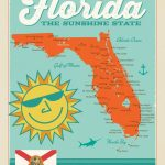 Florida Map | Anderson Design Group   Vintage Florida Map Poster