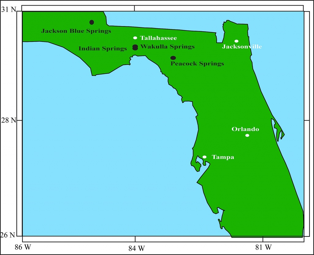 Florida Map. - Indian Springs Florida Map