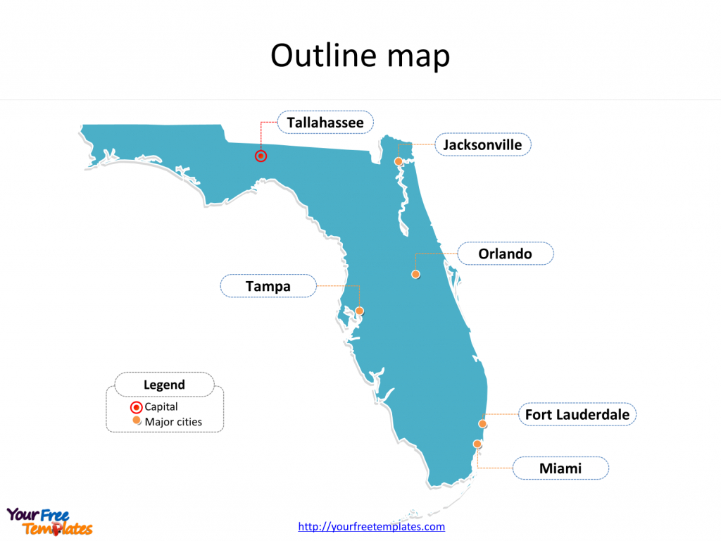 Florida Map Powerpoint Templates - Free Powerpoint Templates - Miami Florida Map