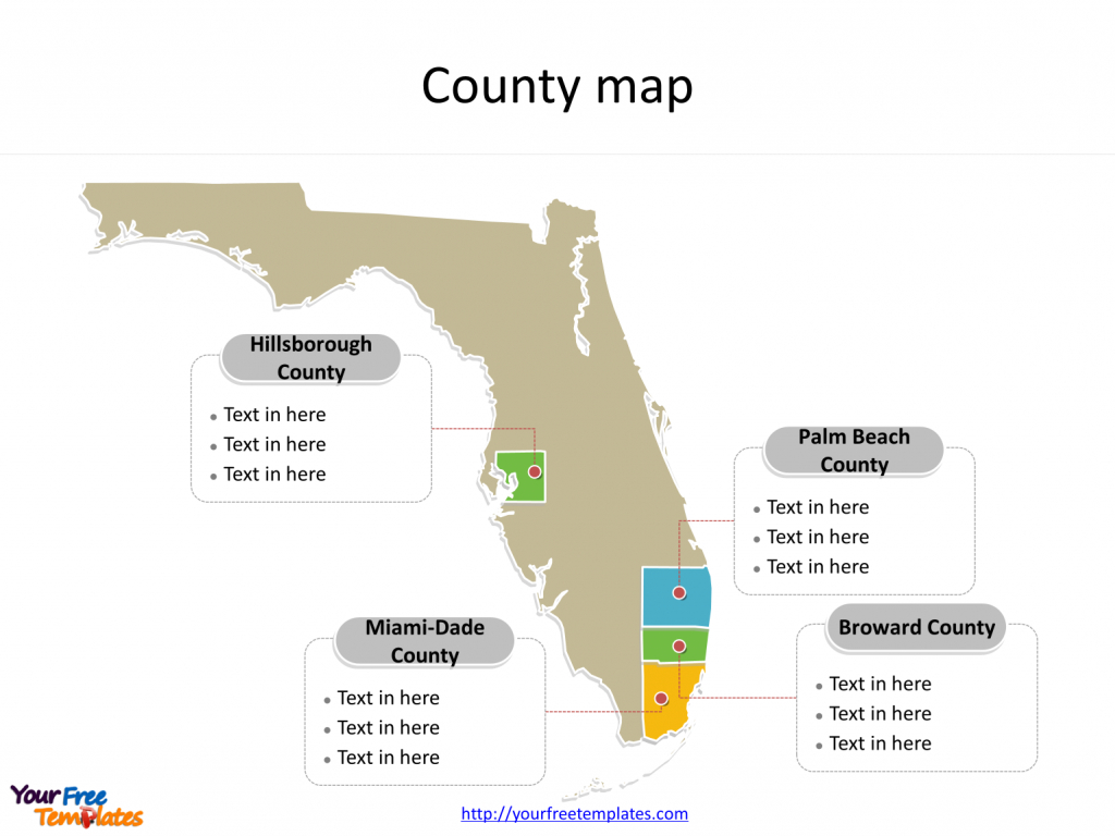 Florida Map Powerpoint Templates - Free Powerpoint Templates - Palm Beach Florida Map