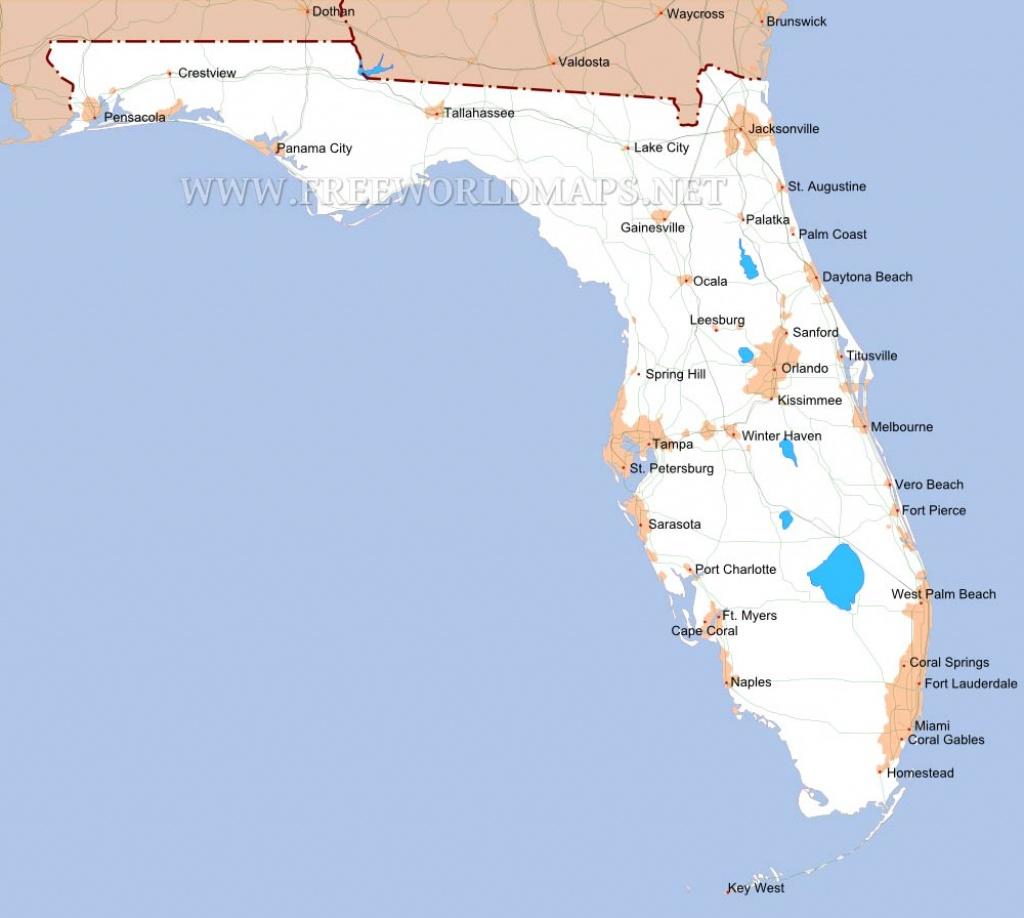 Florida Maps - Coral Springs Florida Map