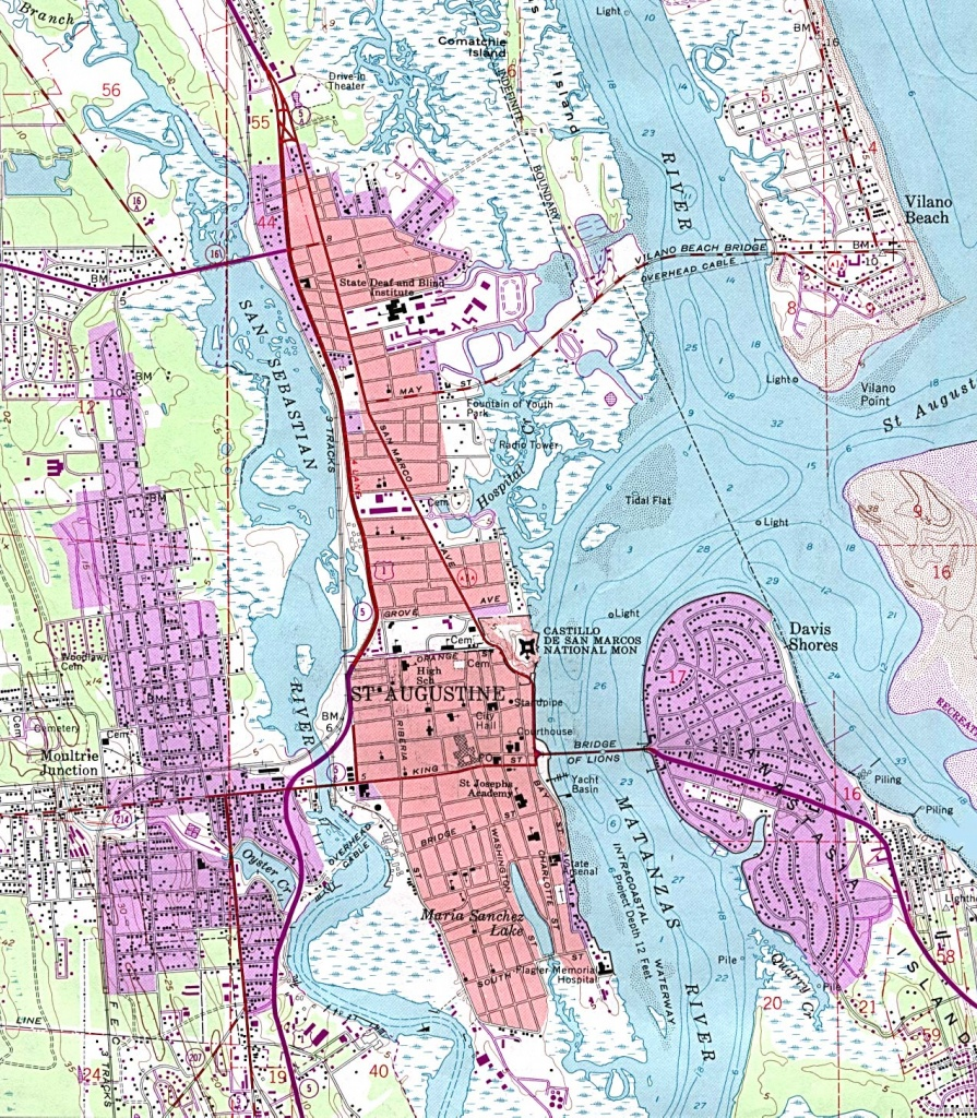 Florida Maps - Perry-Castañeda Map Collection - Ut Library Online - Where Is St Augustine Florida On The Map