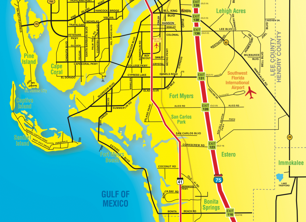 Florida Maps - Southwest Florida Travel - Map Of Southwest Florida Gulf Coast