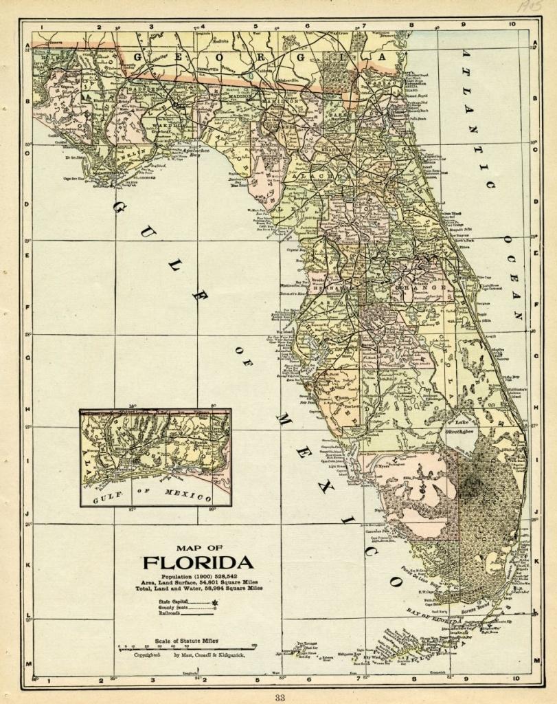 Florida Memory - Map Of Florida, 1905 | History Of Plant City - Plant City Florida Map