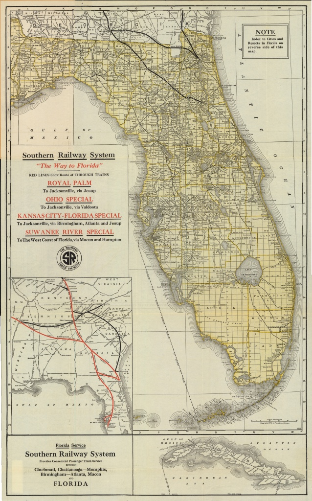 Florida Memory - Map Of Florida, Ca. 1922 - St Leo Florida Map