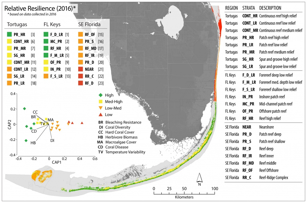 Florida – Monitoring Reef Resilience | Reef Resilience - Florida Reef Map