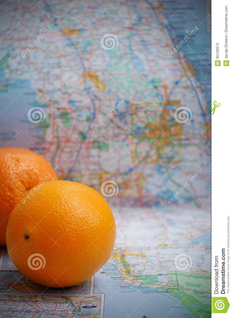 Florida Oranges Stock Image. Image Of Atop, Route, Citrus - 95126313 - Where Are Oranges Grown In Florida Map