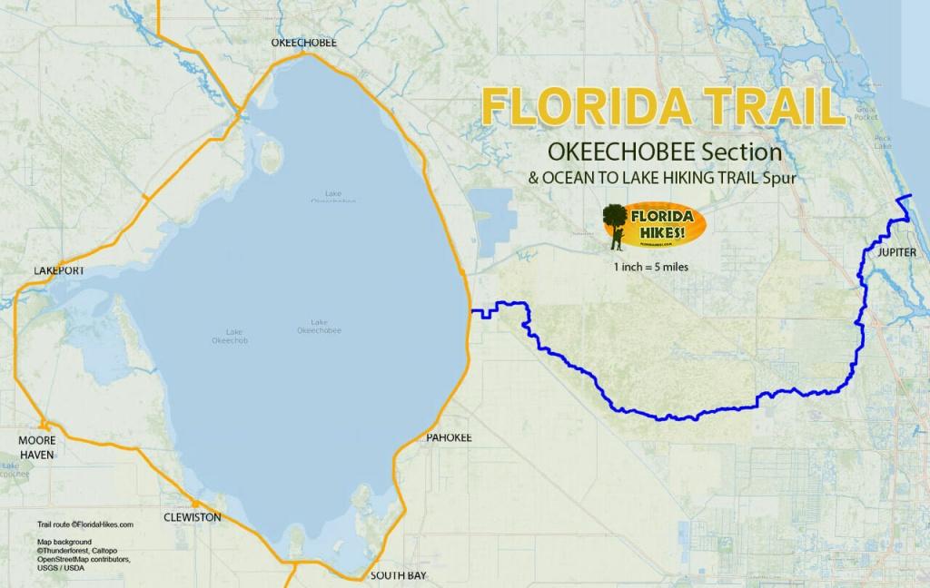 Florida Outdoor Recreation Maps | Florida Hikes! - Labelle Florida Map