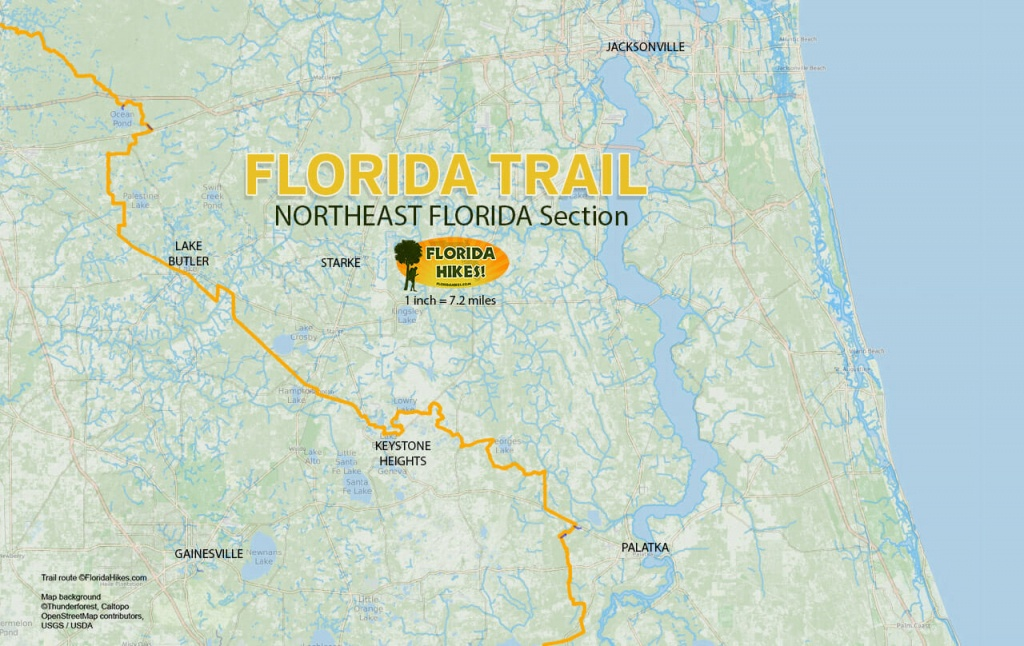 Florida Outdoor Recreation Maps | Florida Hikes! - Where Is Palm Harbor Florida On The Map