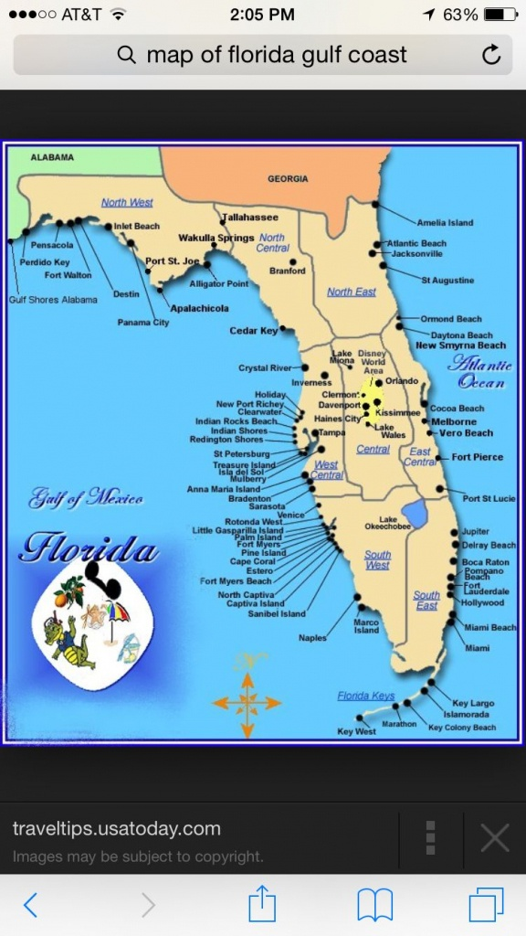 Florida | Places I Want To Visit | Map Of Florida Gulf, Map Of - Central Florida Attractions Map