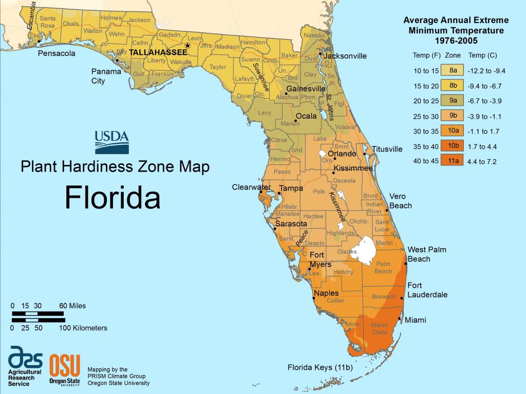 Florida Plant Hardiness Zone Map • Mapsof - Plant Zone Map Florida