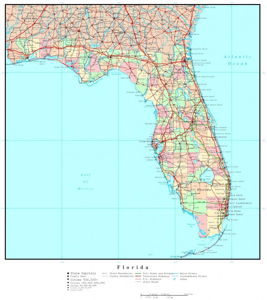 Florida Political Map - Coral Bay Florida Map