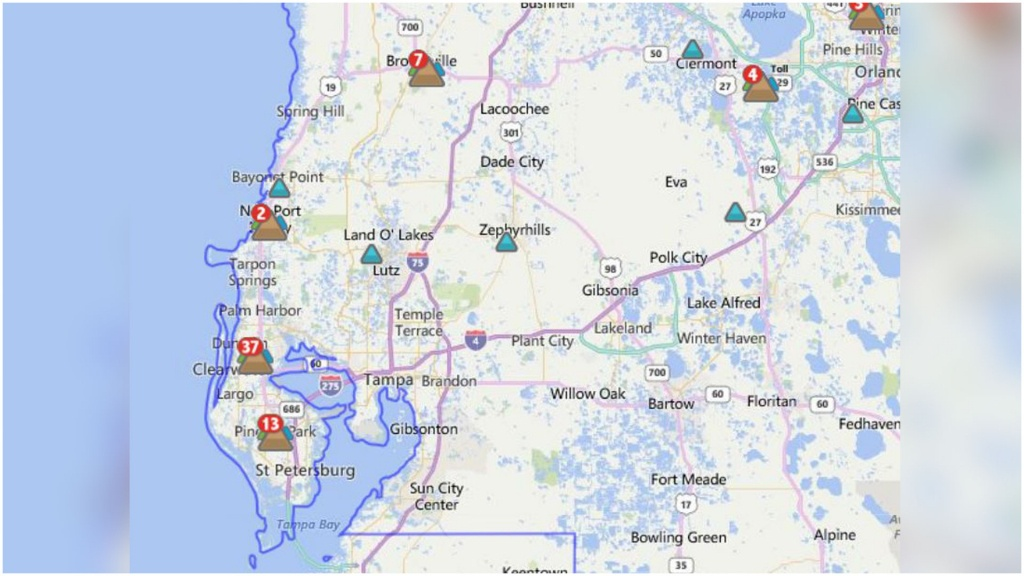 Florida Power And Light Outage Map Usgs Caribbean North Georgia - Florida Power Outage Map