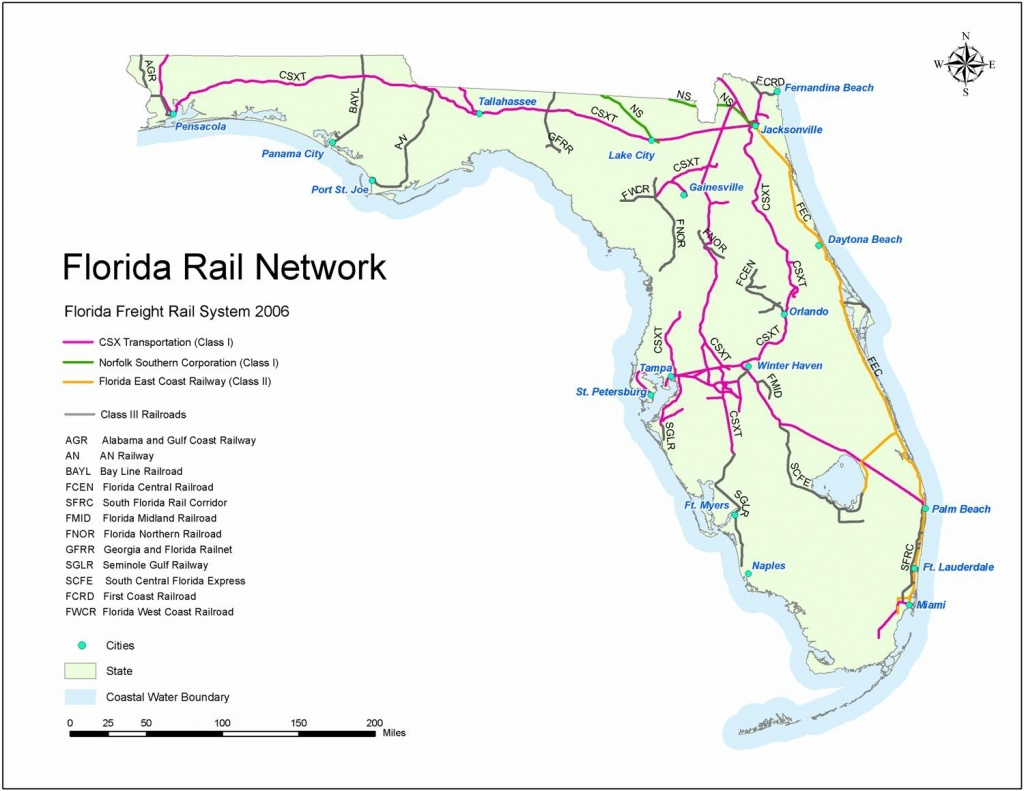Florida Rail Map And Travel Information   Download Free Florida Rail Map - Florida Railroad Map