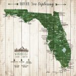 Florida State Gift State Parks Map Florida Wall Art State | Etsy   Florida State Parks Map