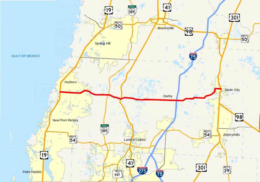 Florida State Road 52 - Wikipedia - St Leo Florida Map