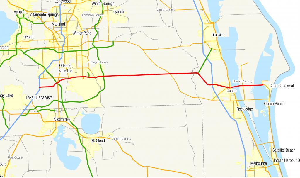 Florida State Road 528 - Wikipedia - Road Map Of Lake County Florida