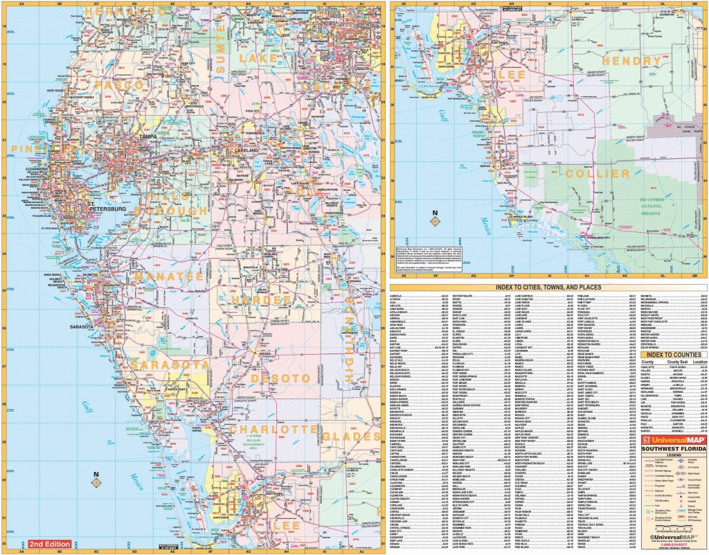 Florida State Southwest Regional Wall Map – Kappa Map Group - Map Of Sw Florida