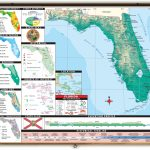 Florida State Thematic Classroom Map On Spring Roller From Kappa Map   Florida Wetlands Map