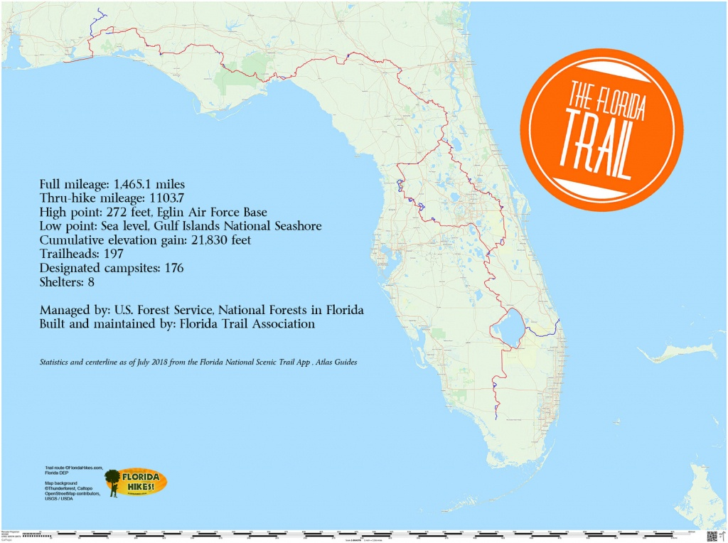Florida Trail | Florida Hikes! - Christmas Florida Map