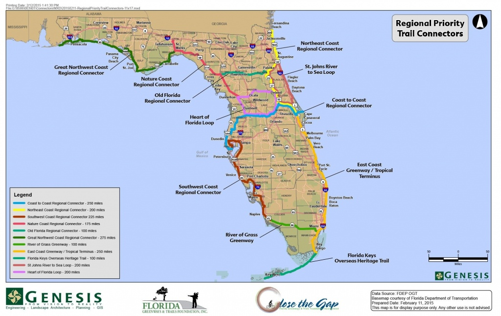 Florida Trail Map | D1Softball - Florida Scenic Trail Interactive Map