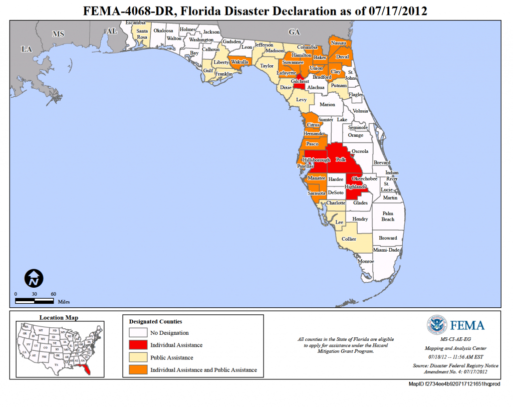 Florida Tropical Storm Debby (Dr-4068)   Fema.gov - Fema Maps Florida