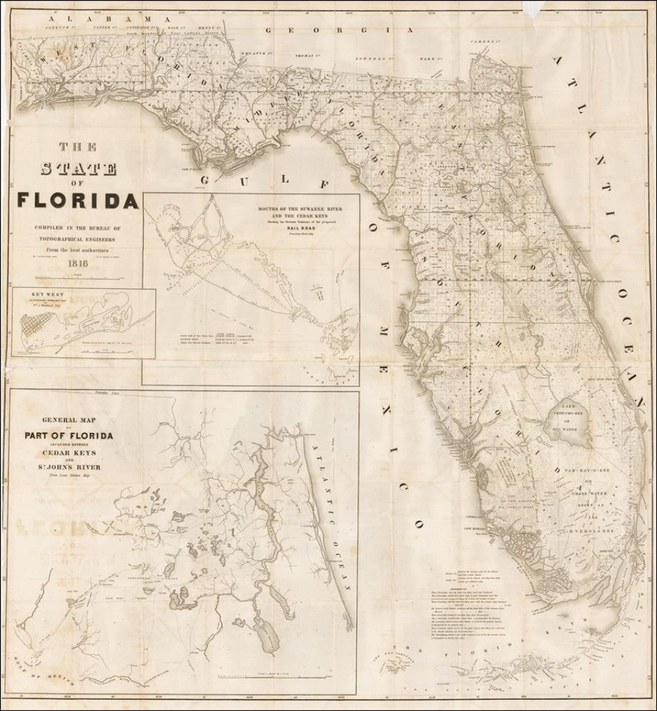 Florida Vintage Road Maps Track The Growth Of The State - Road Map Florida Keys
