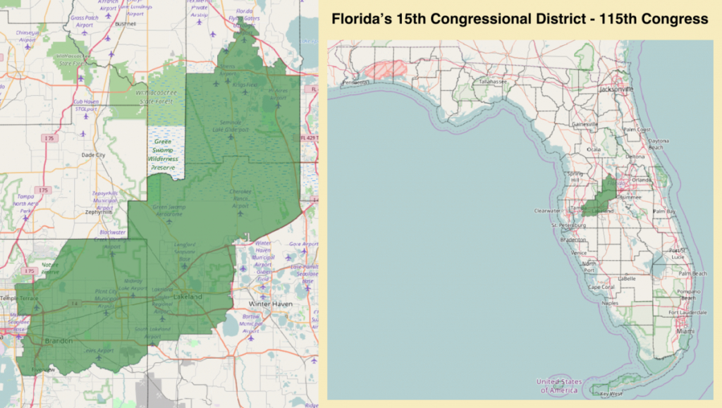 Florida's 15Th Congressional District - Wikipedia - Florida Us House District Map