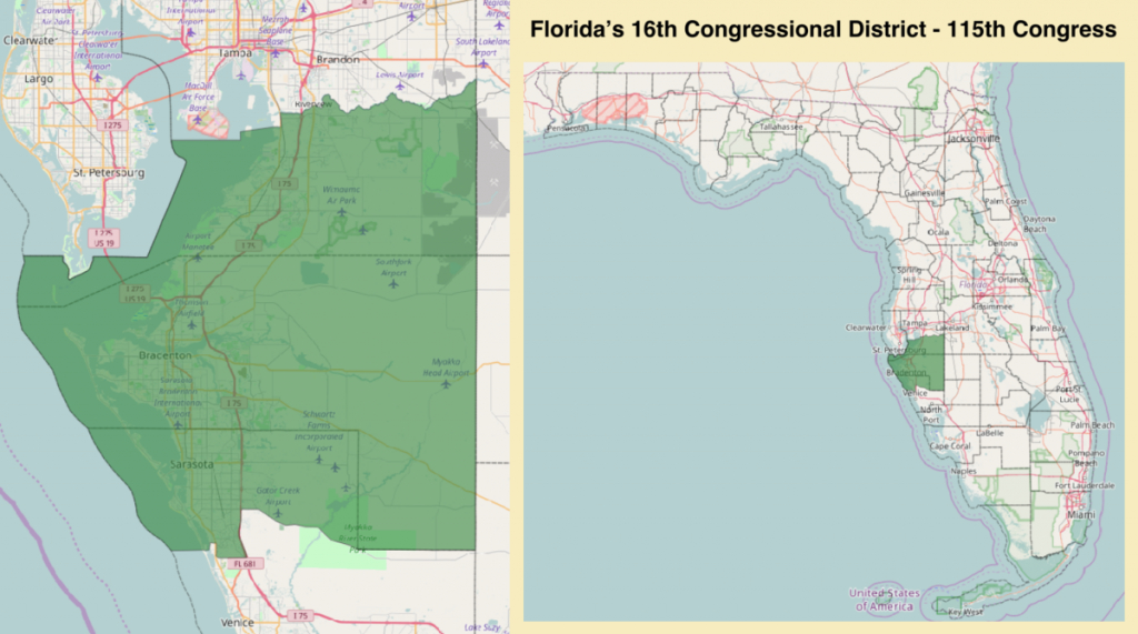 Florida's 16Th Congressional District - Wikipedia - Florida's Congressional District Map