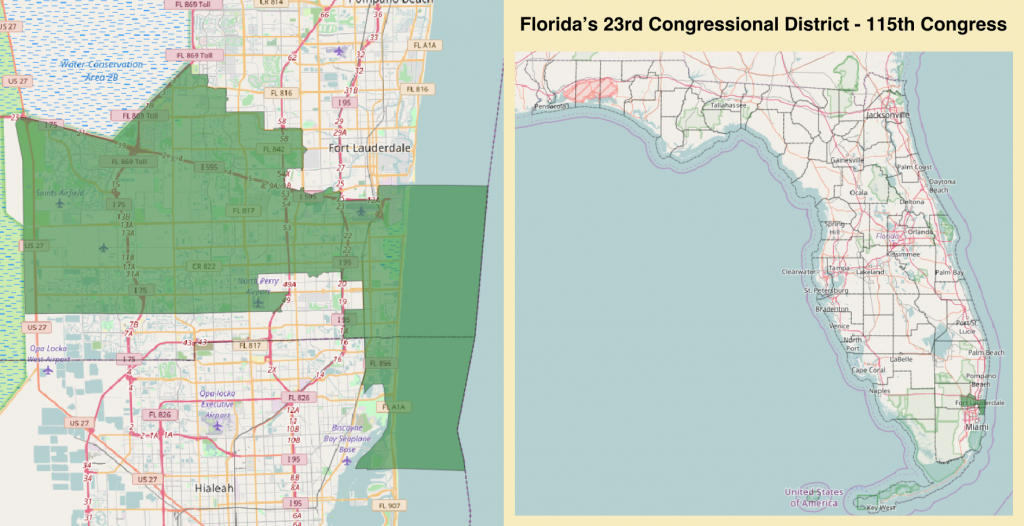 Florida's 23Rd Congressional District - Wikipedia - District 27 Florida Map