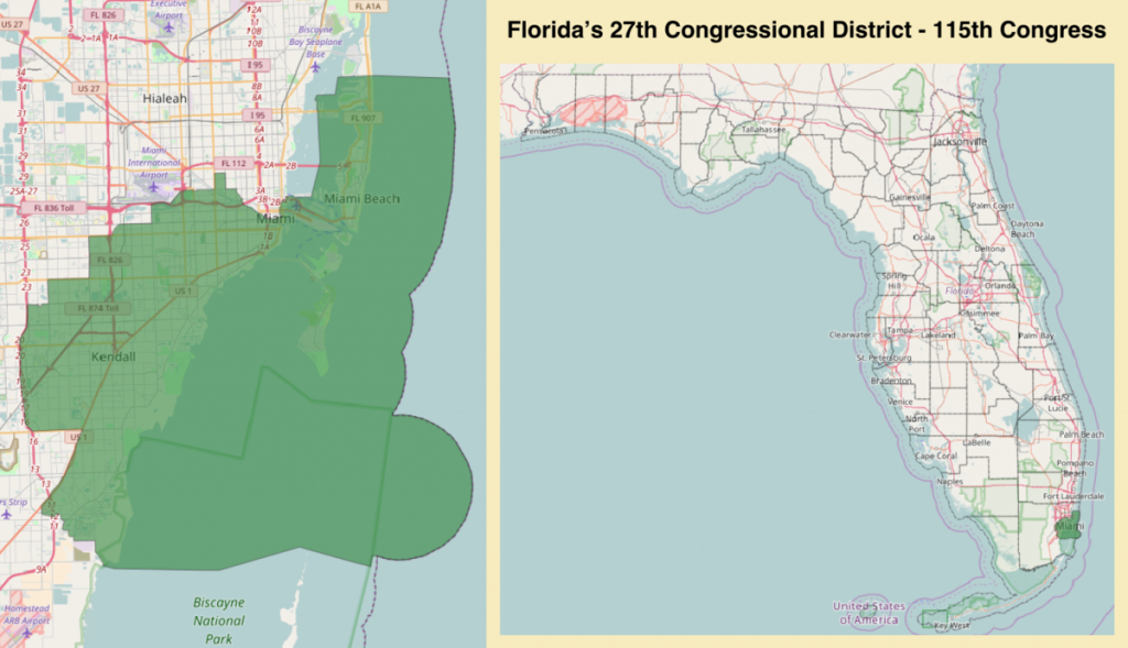 Florida's 27Th Congressional District - Wikipedia - Florida Us House District Map