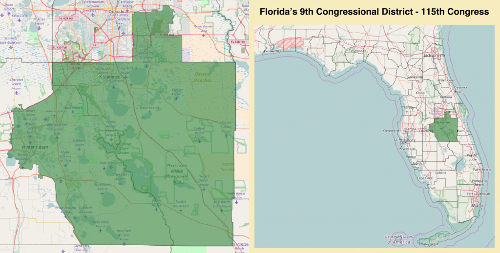Florida's 9Th Congressional District - Wikipedia - St Leo Florida Map