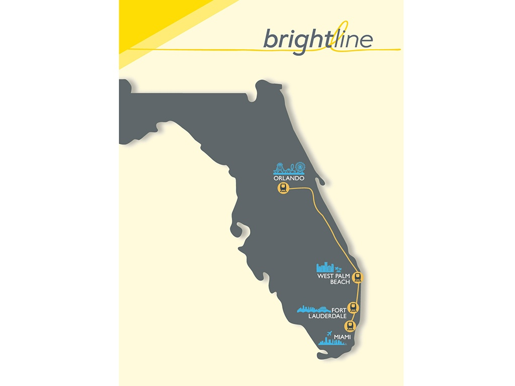 Florida's Brightline To 'take The Grey Out Of Travel' - Railway Gazette - Florida Brightline Map