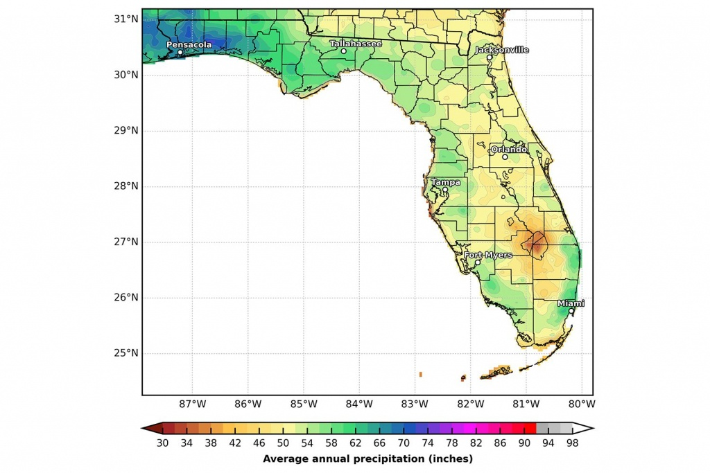 Florida's Climate And Weather - Florida State Weather Map