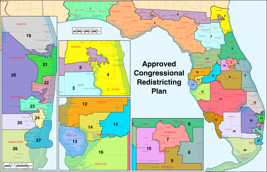 Florida's Congressional Districts - Wikipedia - Florida's Congressional District Map